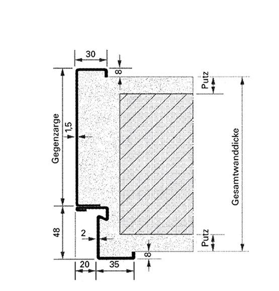Außentür detail fußpunkt  Mehrzwecktüren Dünnfalz | Novoferm