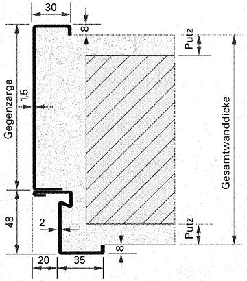 Unterschied eckzarge umfassungszarge  Feuerschutztüren H8-5 | Novoferm