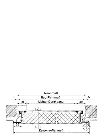 Stahlzarge dwg  Feuerschutztüren H8-5 | Novoferm