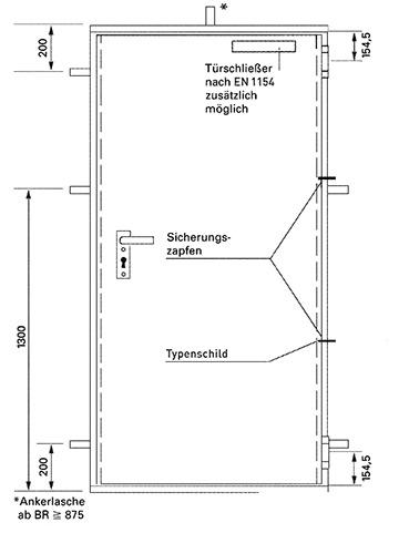 Türzarge detail dwg  Feuerschutztüren H8-5 | Novoferm