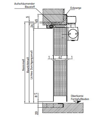Tür vertikalschnitt  Feuerschutztüren Plano | Novoferm