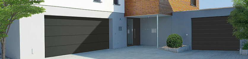 Garagen Sektionaltor in Satin Grey