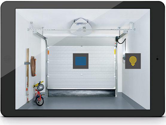sektionaltor steuerung ber app novoferm. Black Bedroom Furniture Sets. Home Design Ideas