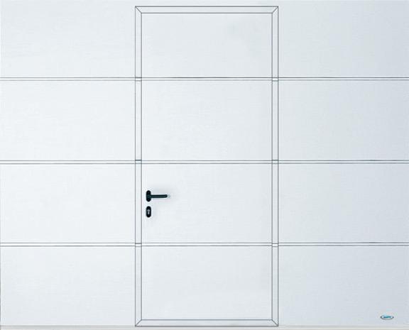 Garagentor mit integrierter tür  Sektionaltore mit Schlupftür | Novoferm