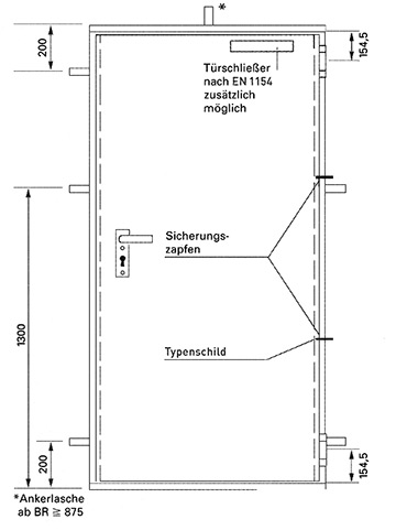 Favorit Feuerschutztüren H8-5 | Novoferm PC53